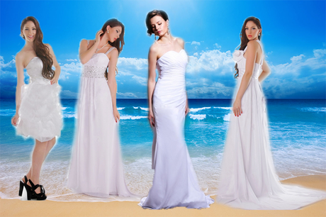 Beach wedding dresses.