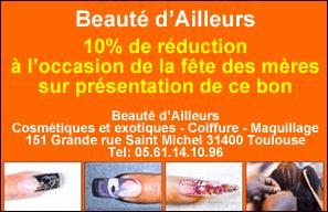 10% de réduction chez Beauté d'Ailleurs pour la Fête des Mères !