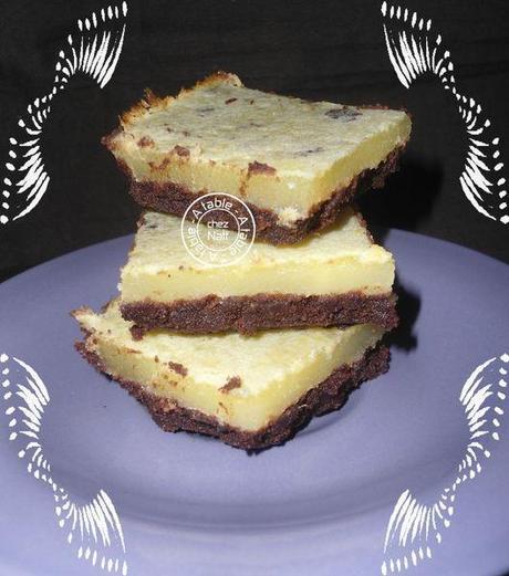carrés chocolat citron