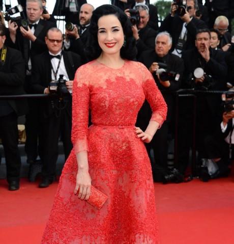 dita-von-teese Cannes 2013