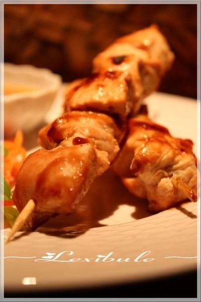 ~Brochettes de poulet, sauce à l'orange~