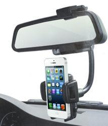Support Voiture Universel Fixations Rétroviseur Intérieur pour Smartphone...