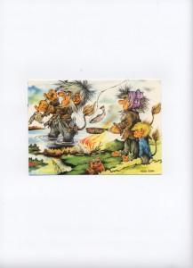 Trolls, Norvège. Carte postale 2012.