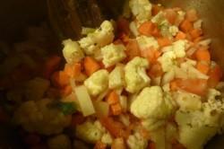 bouillon de légume avec pâtes aux oeufs