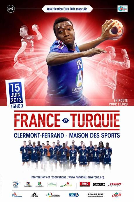 Handball / Les Experts : France – Turquie, le 15 juin à la Maison des Sports de Clermont-Fd