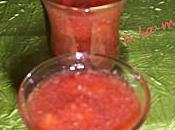 Soupe fraises menthe