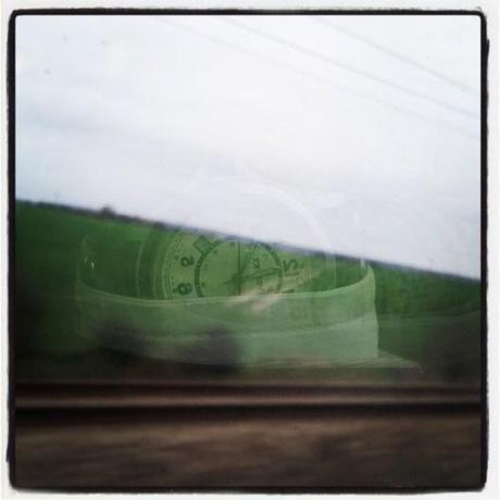 A clock in the window