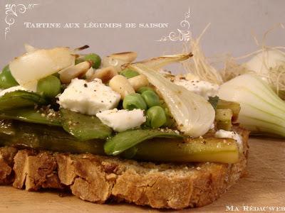 Recette : Tartine aux légumes de saison