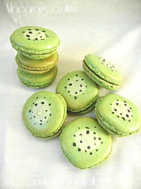 macarons au kiwi prunillefee