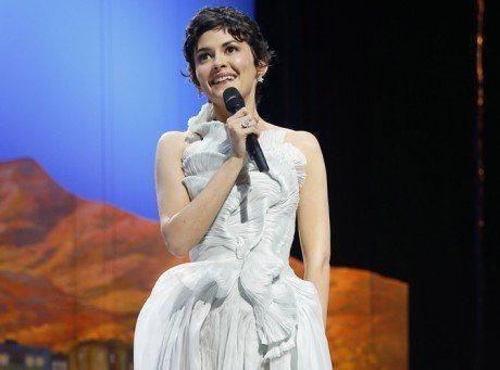 La très jolie Audrey Tautou, cérémonie d'ouverture cannes 2013
