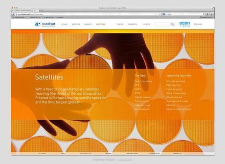 Nouveau site Internet par Be Dandy pour Eutelsat