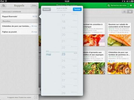 Evernote intègre la notion de rappel à ses applications Web, iOS et Mac