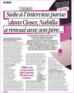Thomas valide l'interview du père de Nabilla dans Closer (à lire)