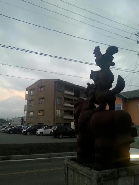 Sur les pentes du Mont Fuji...