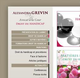 L'avocat Alexandra GREVIN nous confie la refonte de son site