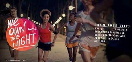 We Own The Night 10Km Femmes (Paris 13) - Nike