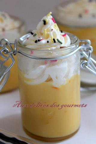 Petit pot de crème orange curd et chantilly a la vanille | À ...