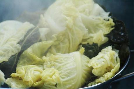 chou vert après cuisson