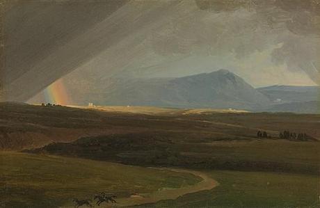 Simon Denis Paysage près de Rome durant un orage