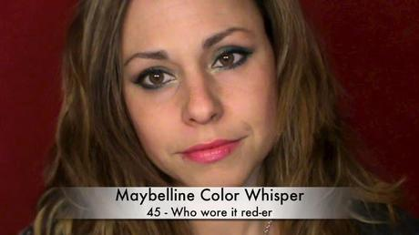 Revue et Swatch des Vivids et Color Whisper de Maybelline