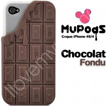 Coque tablette de chocolat coulant - environ 20 euros chez I love My Iphone