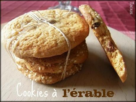Cookies ou biscuits au sucre d'érable