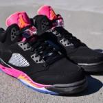 Air Jordan 5 GS Black Orange Pink Floridians
