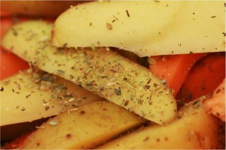 potatoes herbes sèches