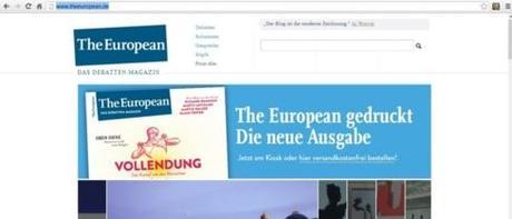 Capture d'écran de The European