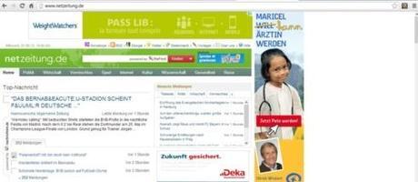 Capture d'écran du site Netzeitung.de