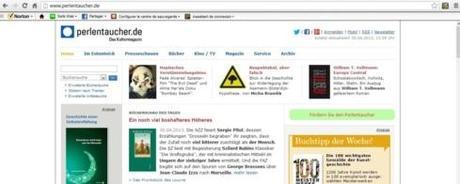 Capture d'écran du site Perlentaucher.de