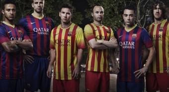 Maillot domicile et extérieur FC Barcelone 2013-2014