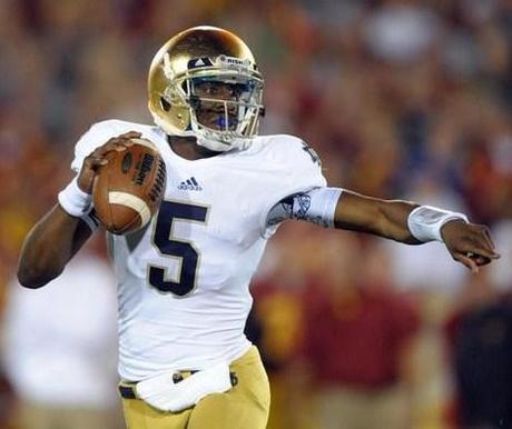 Everett Golson évincé par Notre Dame
