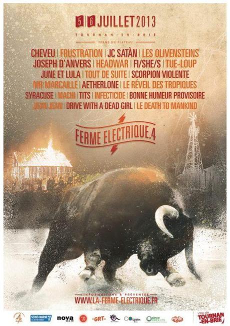 Festival La Ferme Electrique - Affiche 2013