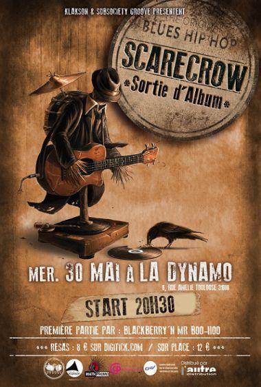 Scarecrow: Sortie d'album à la Dynamo le 30 mai 2013