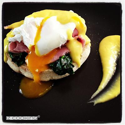 Oeufs Bénédicte (Benedict eggs) aux épinards