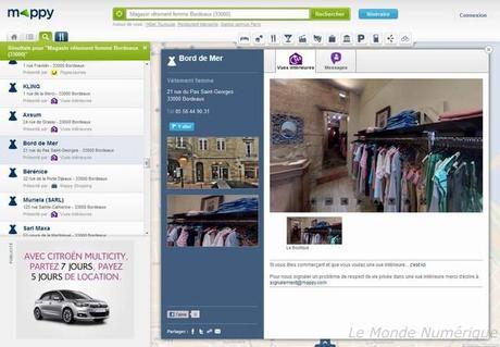 Mappy se présente sous une nouvelle interface avec des services locaux