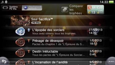 Platine Soul Sacrifice Vita