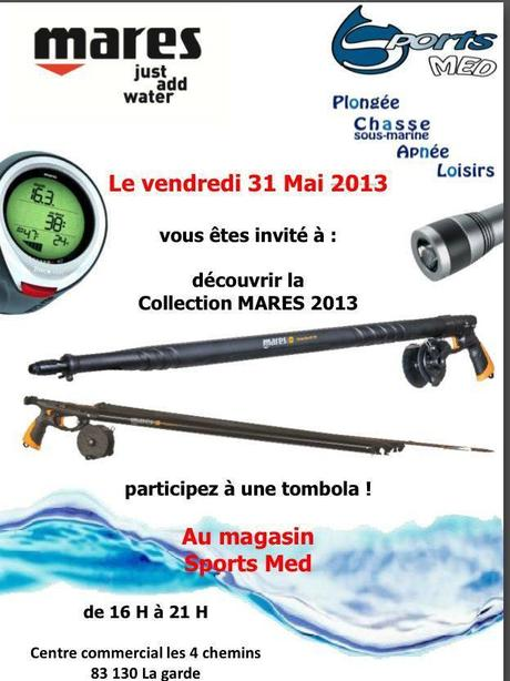 chasse sous marine Mares 2013