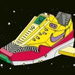 Space Sneakers Illustrations par Ghica Popa