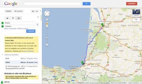 Google Maps ajoute les itinéraires à vélo sur la France