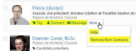 Linkedin contacts options 2