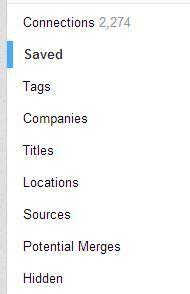 LinkedIn contacts options