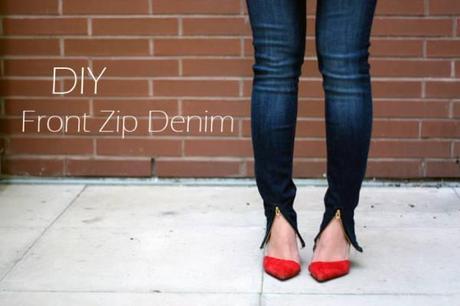 jean zip cheville DIY : des pantalons zippés aux chevilles