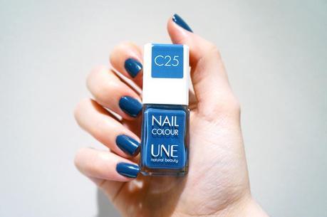 Vernis Une natural beauty test avis pinceau manucure Nail Colour C25 Bleu