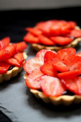 Tartelettes Choc' Fraises { Battle Food #8 }