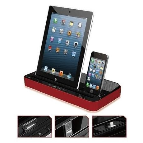 Socle de Recharge pour iPhone, iPad, iPod, Samsung Galaxy S2/S3/Note 2...