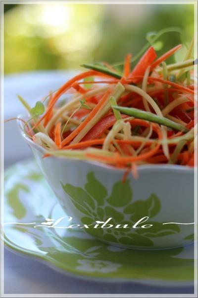 ~Salade croquante au parfum de miel et d'ail~