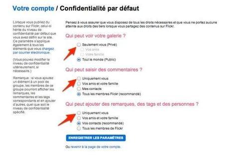 flickr confidentialité Utilisez Flickr comme système de sauvegarde gratuit pour vos photos!