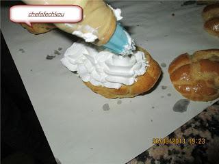 Leçon illustrées de Pâte à choux7/cygnes à la chantilly vanille